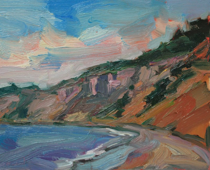 """Beach at Fort Casey"" original fine art by Kathryn Townsend"
