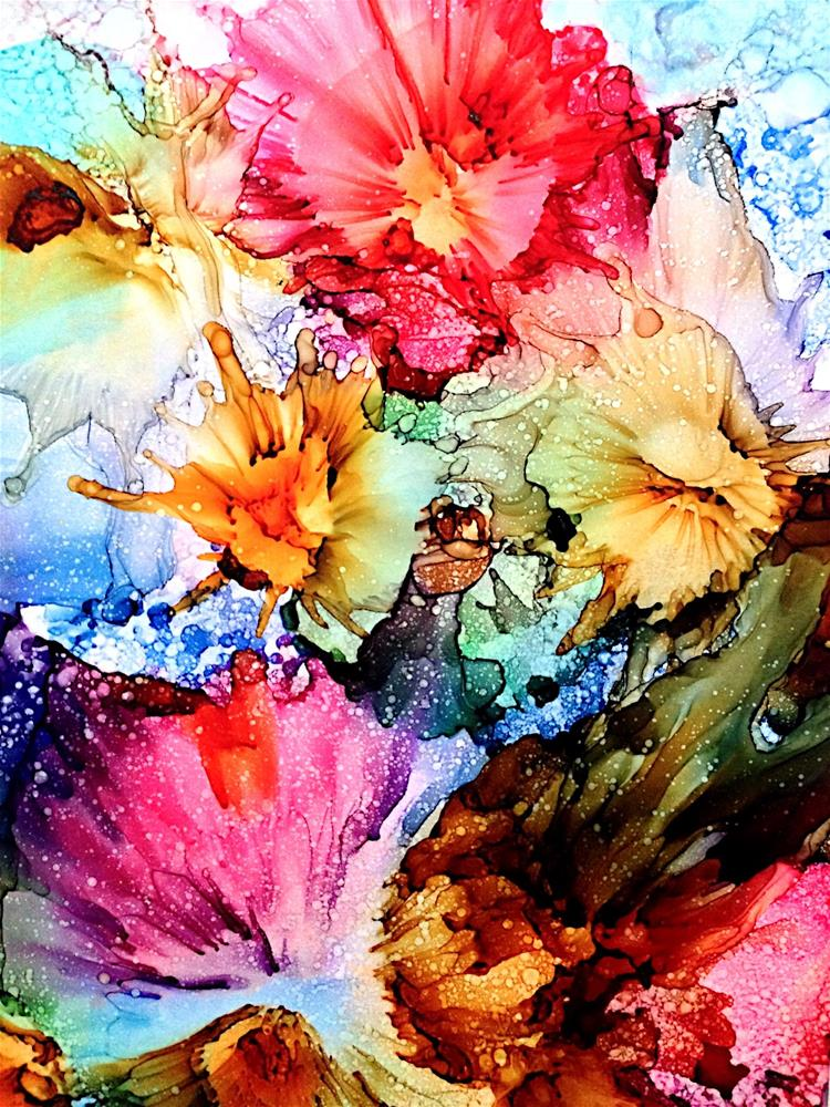 """Spring Bursts"" original fine art by Korinne Carpino"
