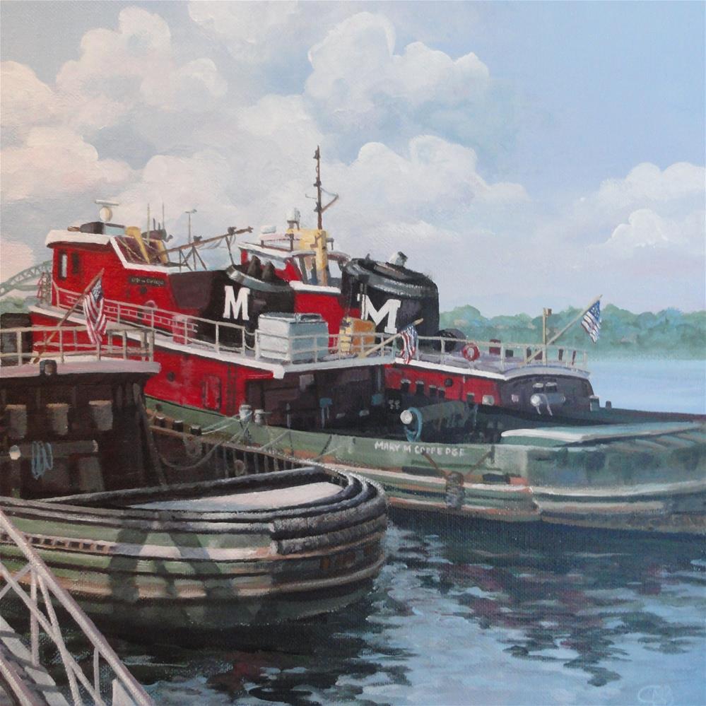 """Portsmouth Tugs"" original fine art by Christine Blain"