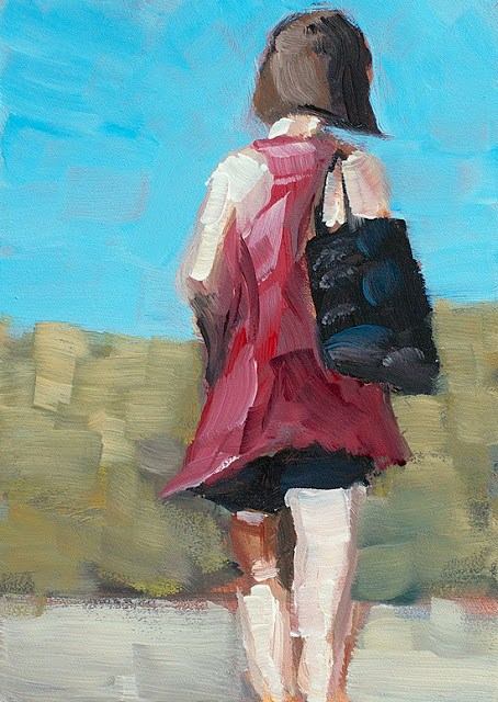 """Beach Walk"" original fine art by J. Farnsworth"