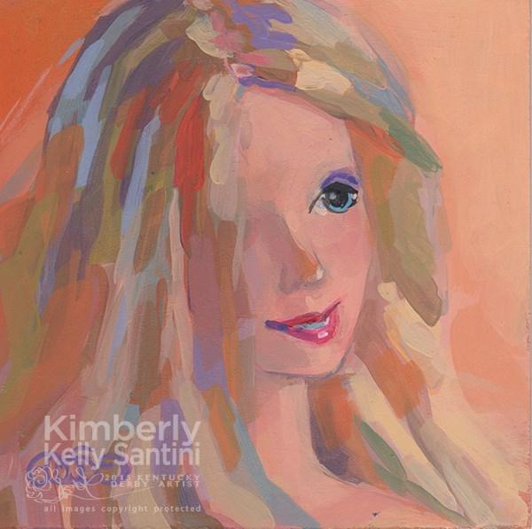 """""""Barbie I, Toy #9"""" original fine art by Kimberly Santini"""