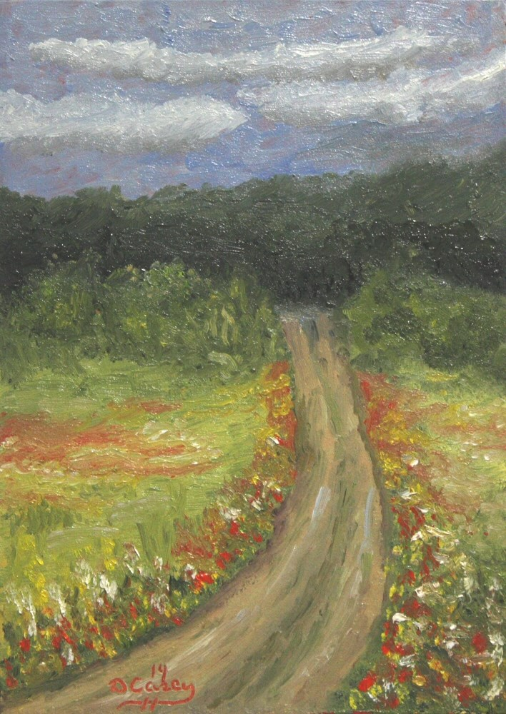 """""""Over The Hill"""" original fine art by Dave Casey"""
