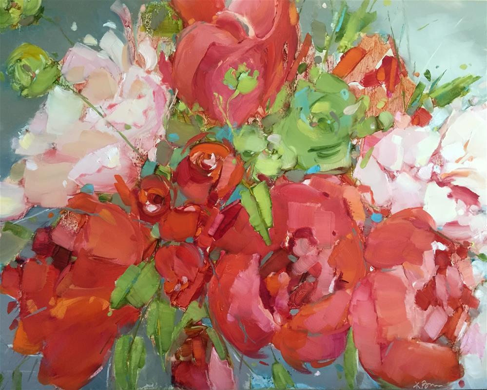 """Feeling the Red"" original fine art by Kathleen Broaderick"