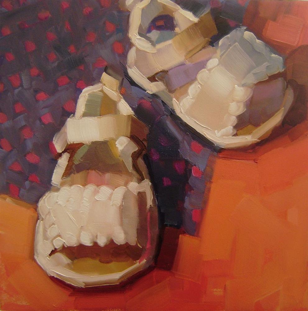 """Little Sandals"" original fine art by Holly Storlie"
