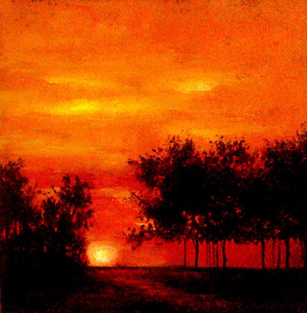 """Sunset on the Horizon"" original fine art by Bob Kimball"