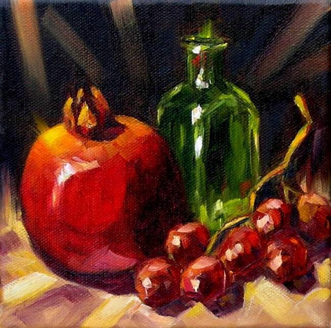 """""""Pomegranate"""" original fine art by Irina Beskina"""
