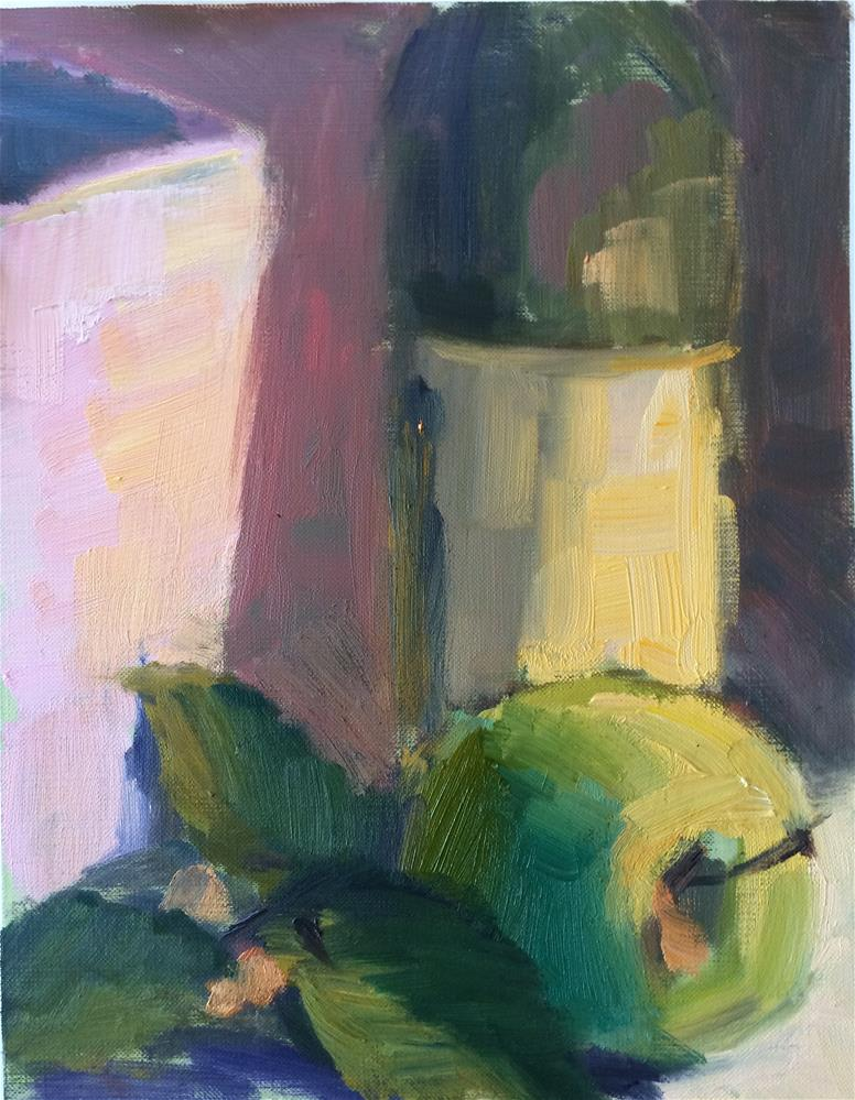 """Green Apple"" original fine art by Naomi Bautista"