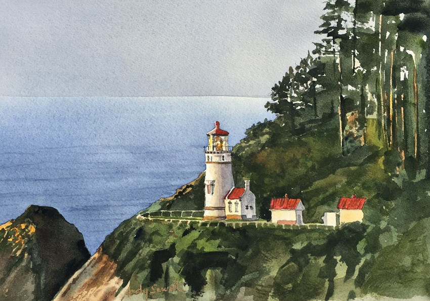 """Heceta Head View"" original fine art by Andy Sewell"