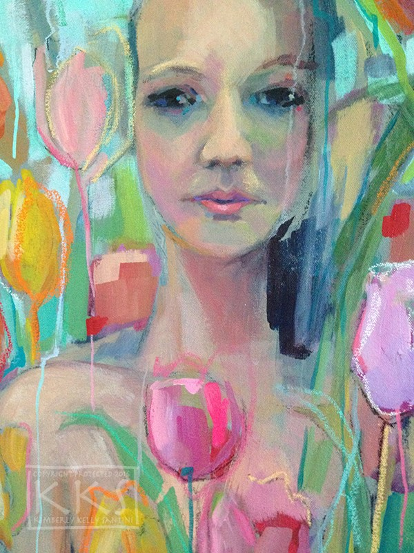 """The Tulip Princess"" original fine art by Kimberly Santini"