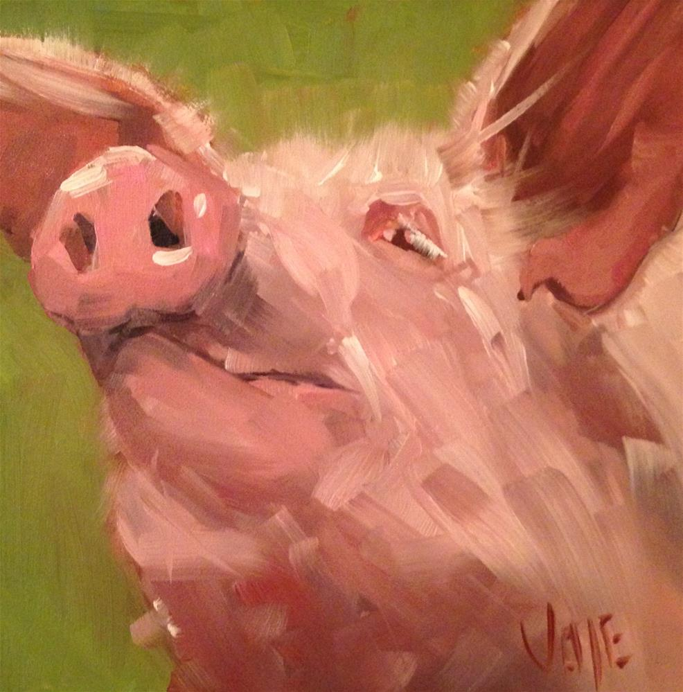 """#147 Hog Wild"" original fine art by Patty Voje"