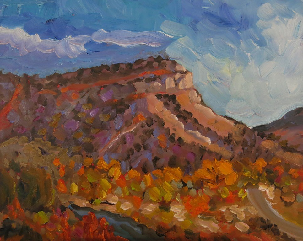 """NEAR PILAR"" original fine art by Dee Sanchez"