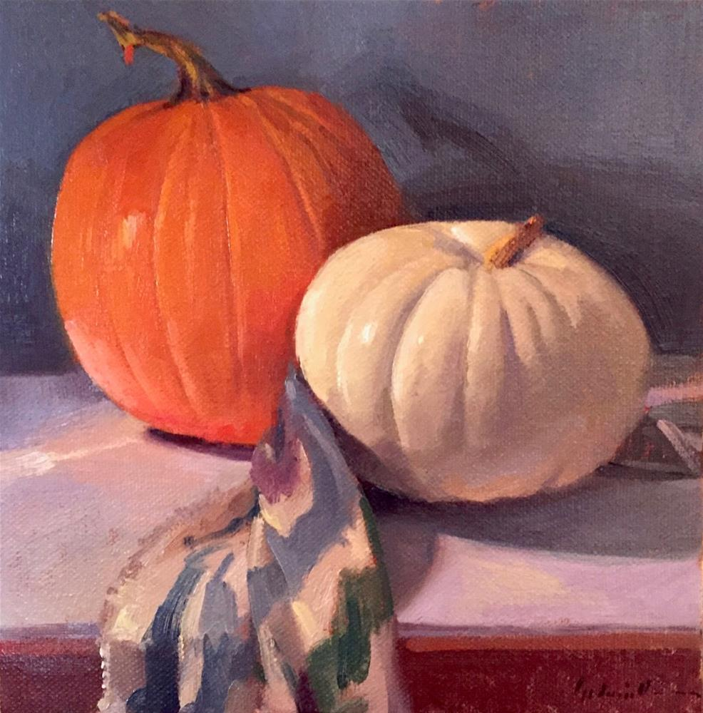 """Political Pumpkins"" original fine art by Sarah Sedwick"