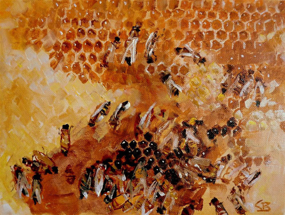 """honeycomb"" original fine art by Claudia Brandt"