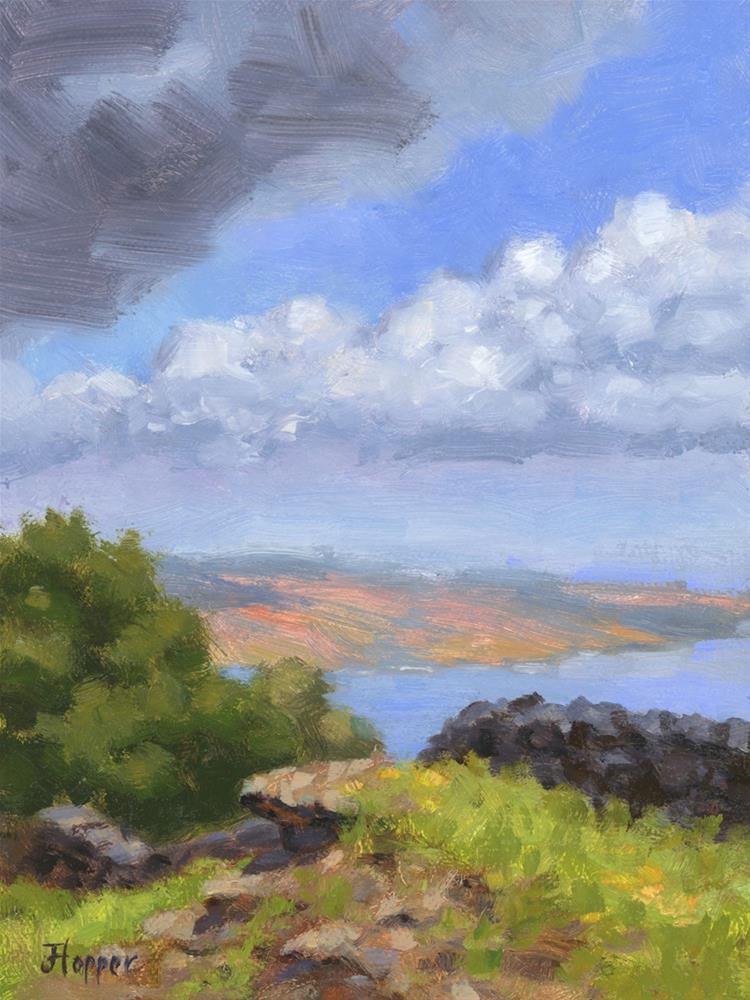 """Kaho'olawe from Thompson Road"" original fine art by Joanne Hopper"