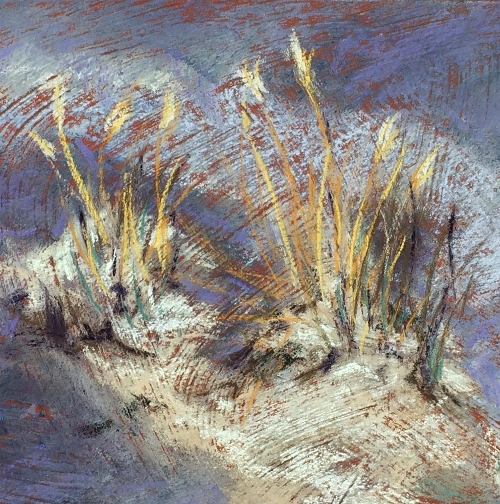 """Winter Grass I"" original fine art by Cristine Kossow"
