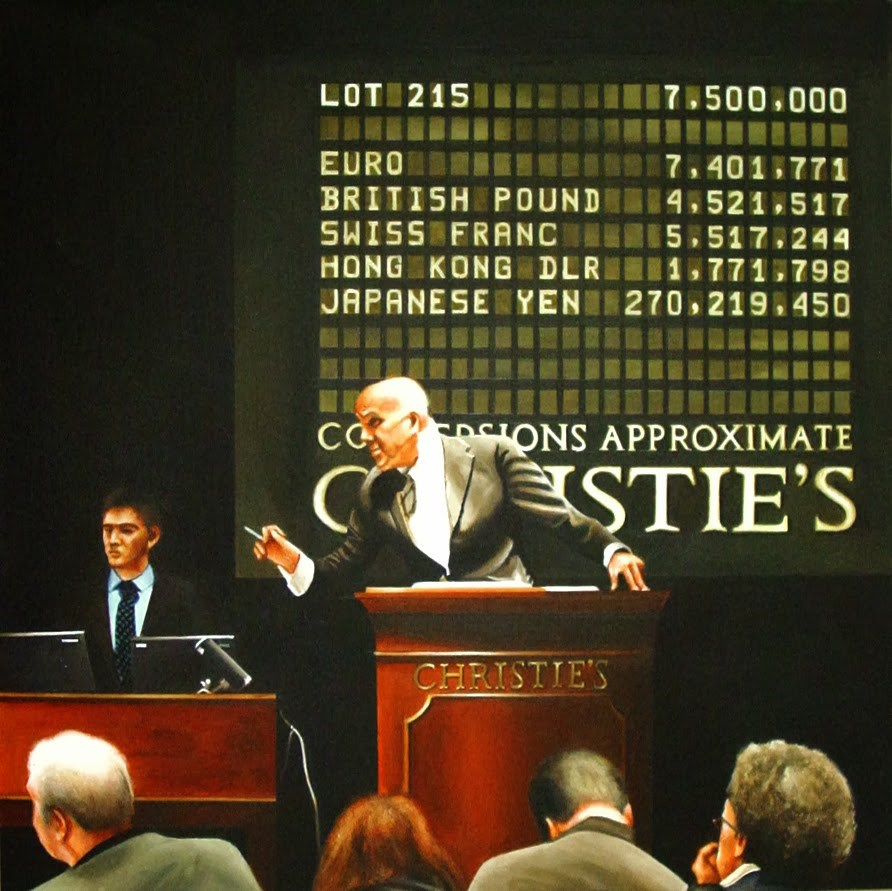 """The Auction - Painting Of Art Auction At Christie's"" original fine art by Gerard Boersma"