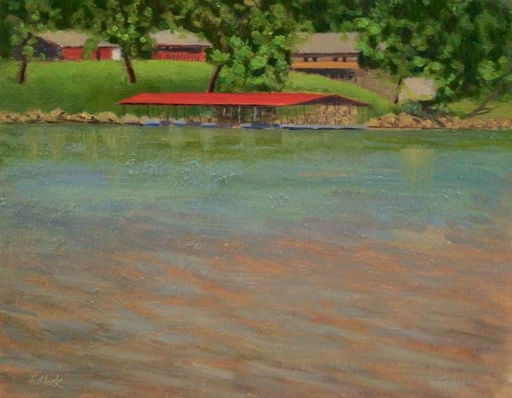 """Red Roof en Plein air"" original fine art by Daniel Fishback"