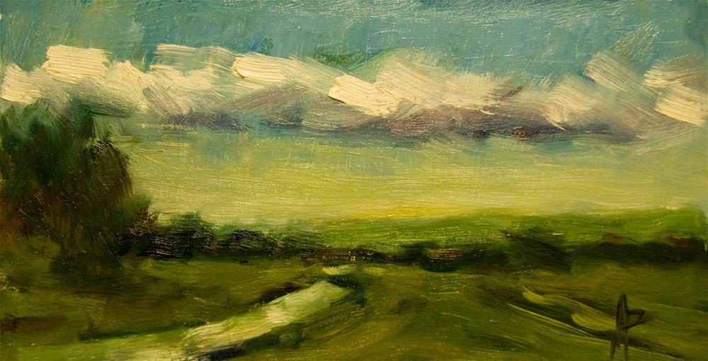 """Landscape with Stream"" original fine art by Andre Pallat"