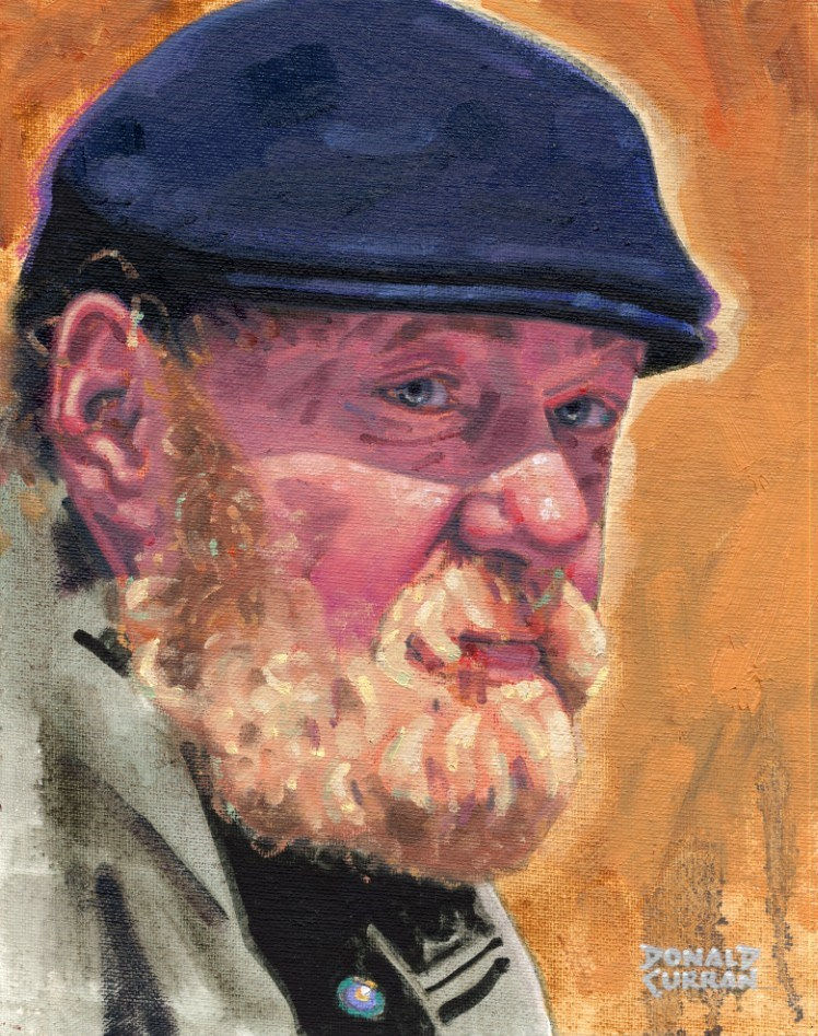 """Old Irish Man"" original fine art by Donald Curran"