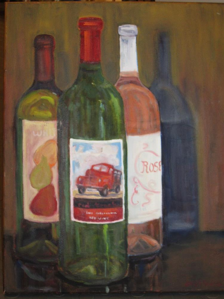 """Red truck"" original fine art by Leigh Alexandra Sparks"