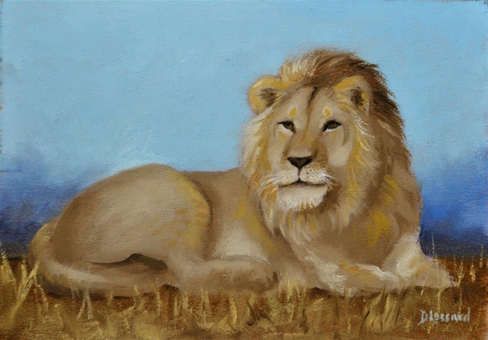 """""""Courage Dear Heart #1608"""" original fine art by Dee Lessard"""