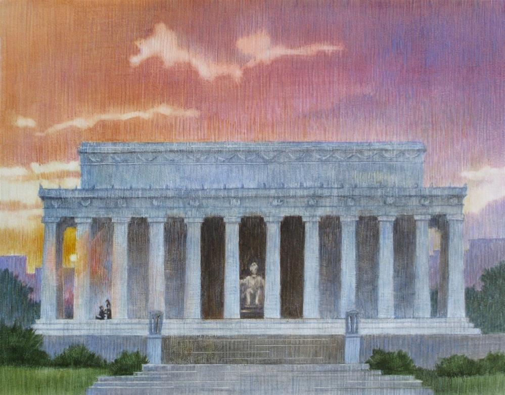 """""""The Lincoln Monument"""" original fine art by Ginger Pena"""