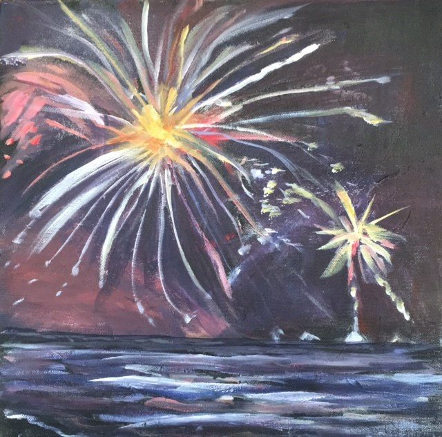 """July 4th"" original fine art by Sheila Clark Lundy"