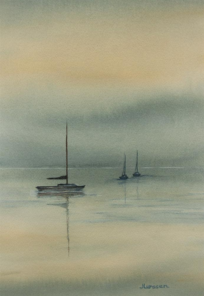 """Foggy Morning"" original fine art by Jean Lurssen"