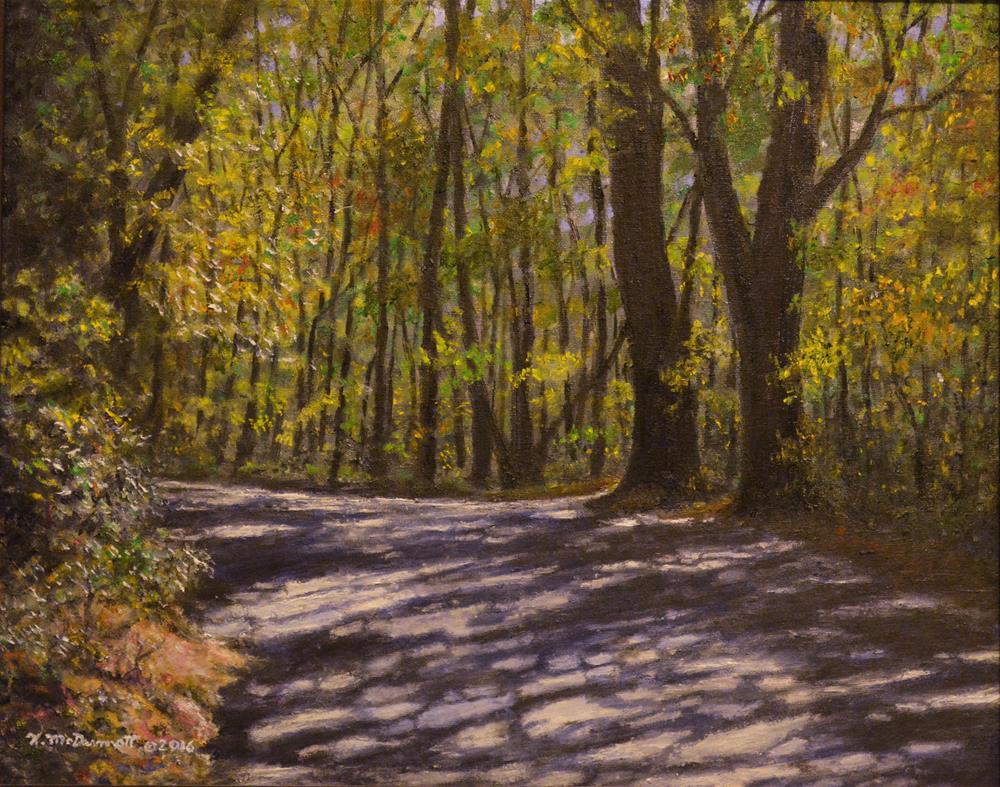"""""""CABIN ROAD (C) 2016 by K. McDermott"""" original fine art by Kathleen McDermott"""
