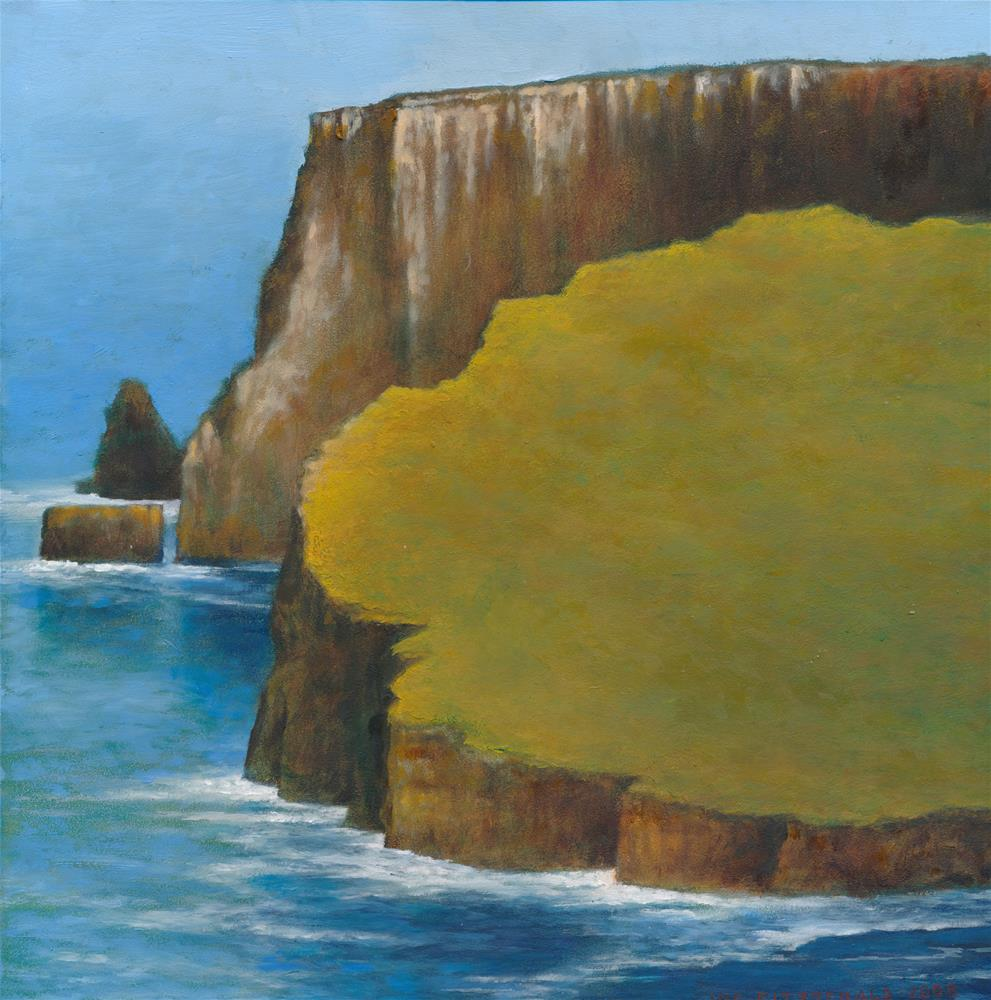 """Moher Face II"" original fine art by Joe Fitzgerald"