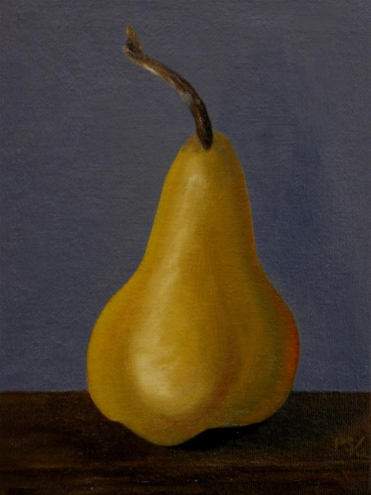 """Beurre bosc Pear IV"" original fine art by Pera Schillings"