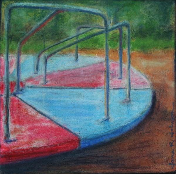 """Merry-Go-Round"" original fine art by Jana Johnson"