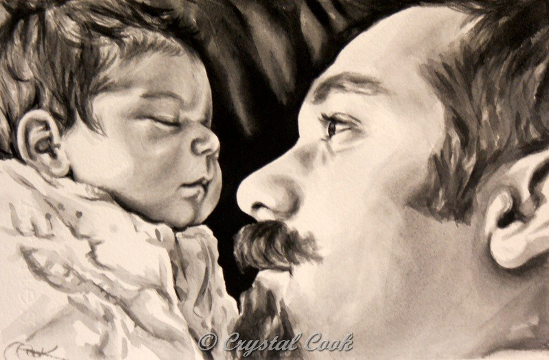 """Dad's Love"" original fine art by Crystal Cook"