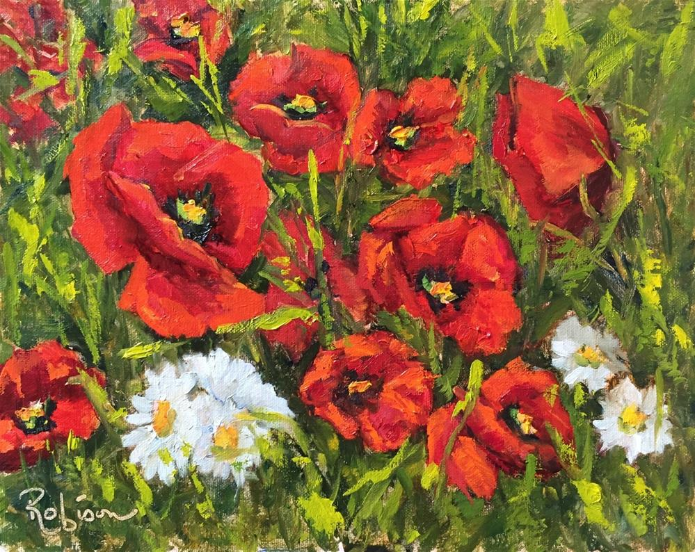 """Explosion of Poppies"" original fine art by Renee Robison"