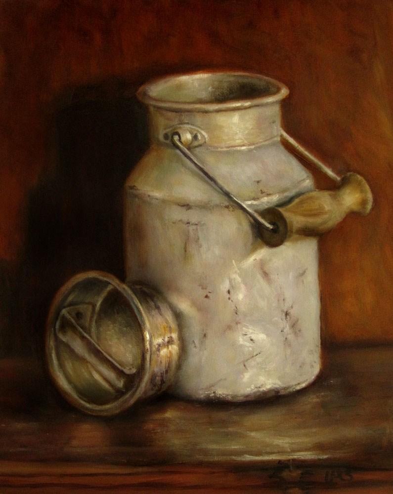 """Milk Can"" original fine art by Ulrike Miesen-Schuermann"