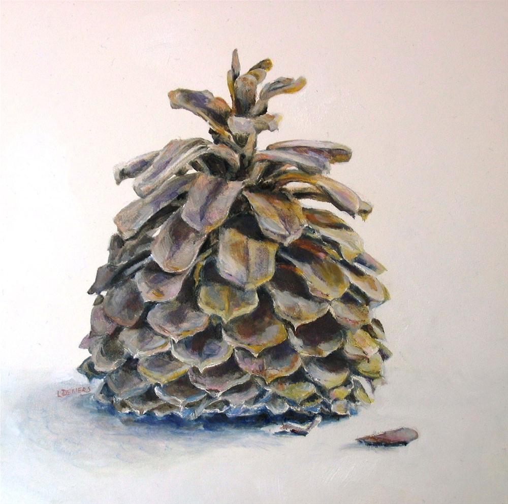 """""""A Pine Cone"""" original fine art by Linda Demers"""