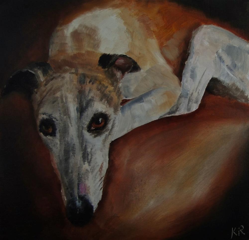 """""""Greyhound 1"""" original fine art by Karen Robinson"""