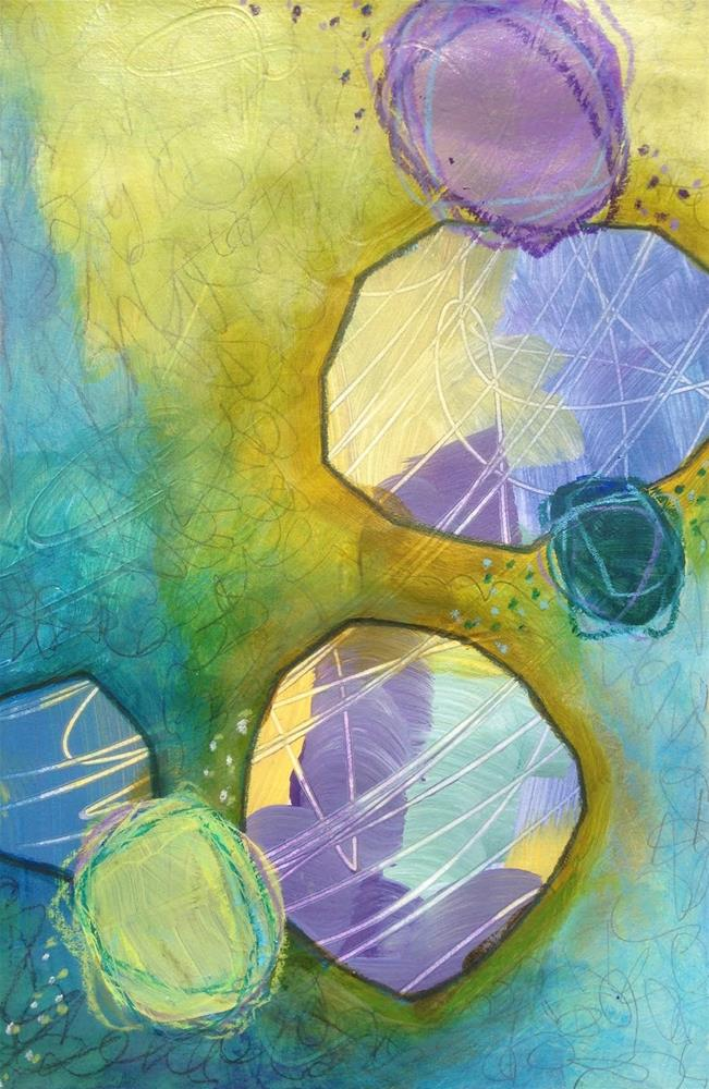 """Shapes, Day 2"" original fine art by Dotty  Seiter"