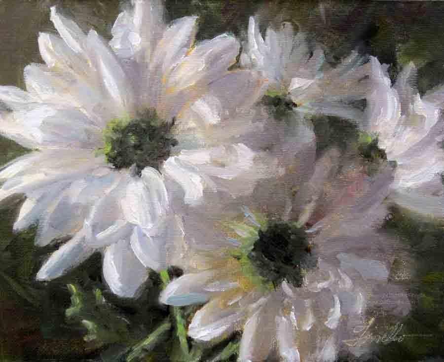 """Sparkling Daisies"" original fine art by Pat Fiorello"