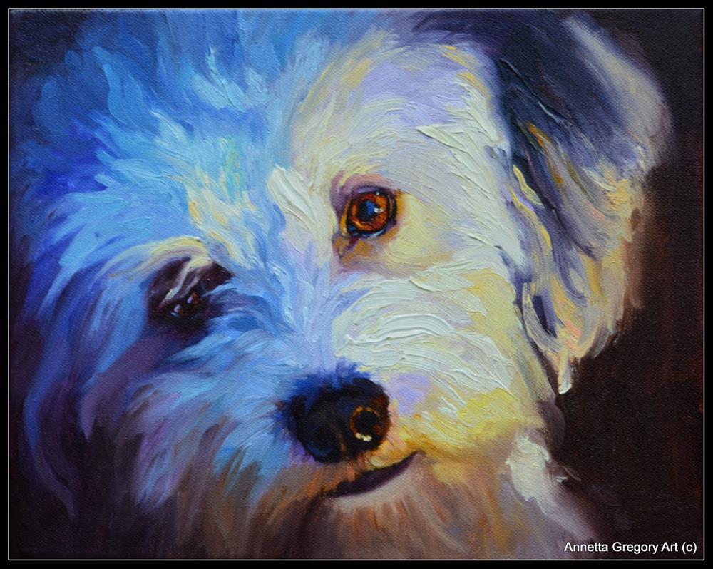 """""""Tyler"""" original fine art by Annetta Gregory"""