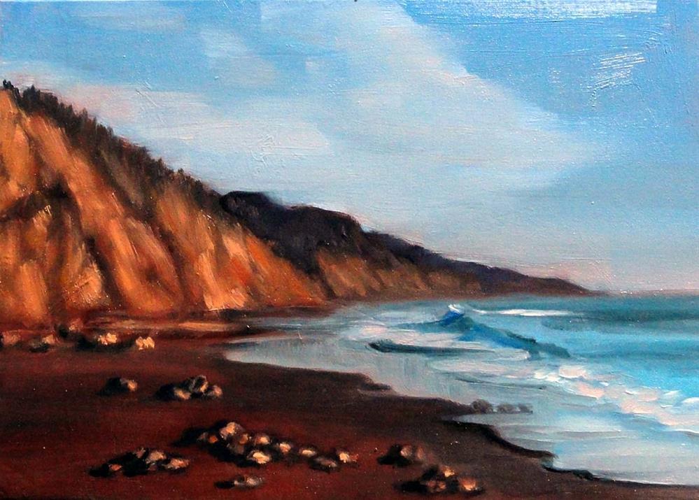 """Glowing Cliffs"" original fine art by Cietha Wilson"