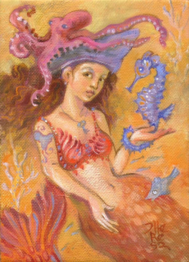 """Mermaid & Friends"" original fine art by Theresa Taylor Bayer"
