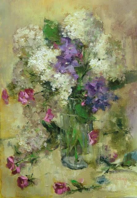 """Annabelle Hydrangea"" original fine art by Barbara Schilling"