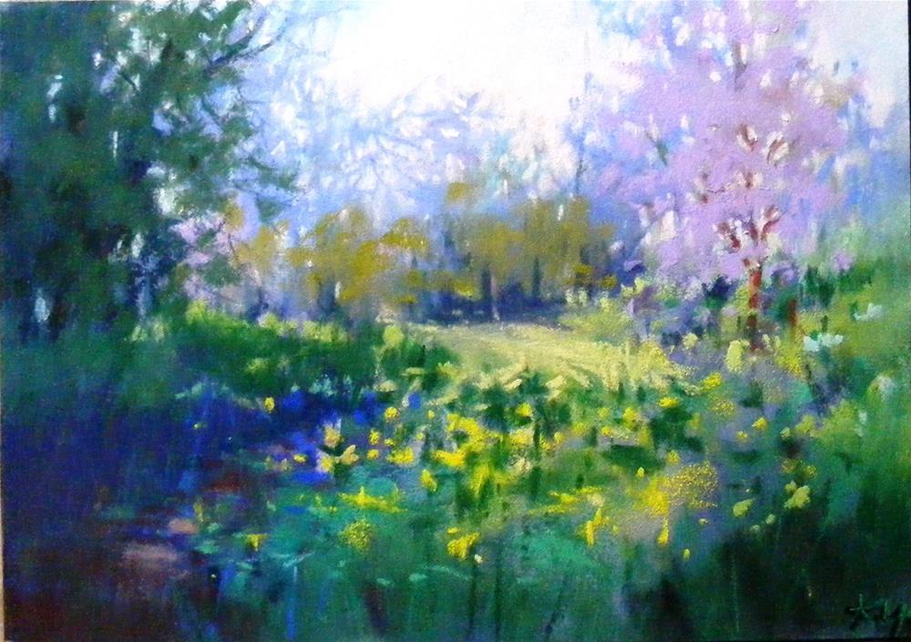 """Spring Encounter"" original fine art by Celine K.  Yong"