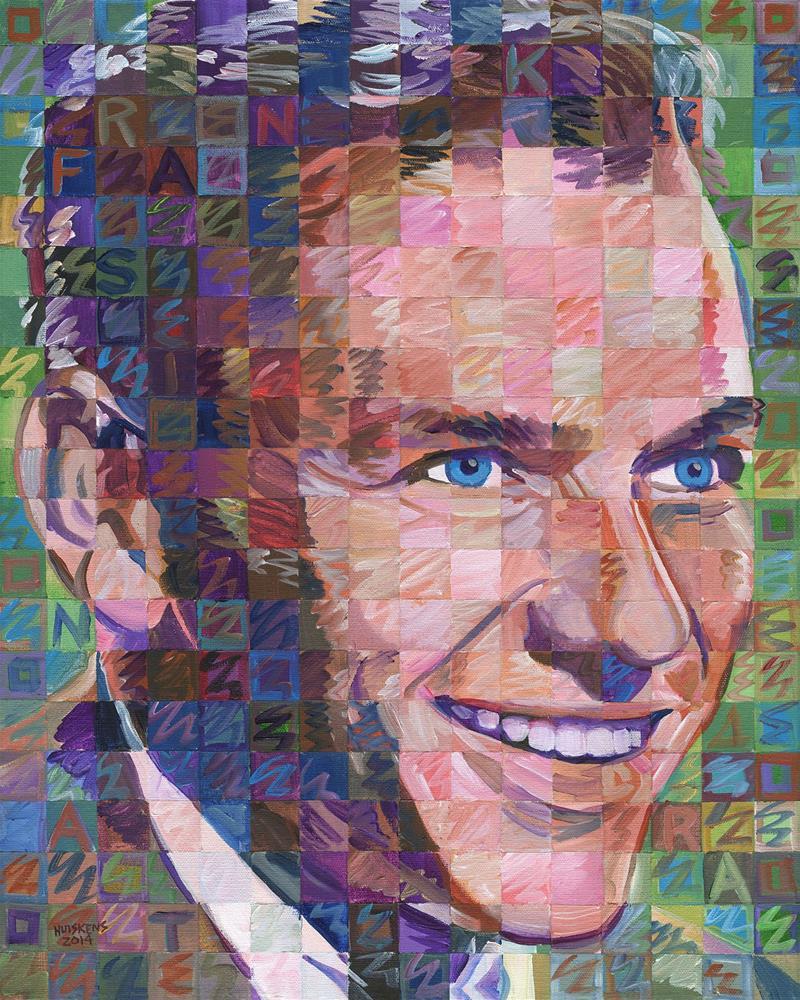 """Frank Sinatra #4"" original fine art by Randal Huiskens"