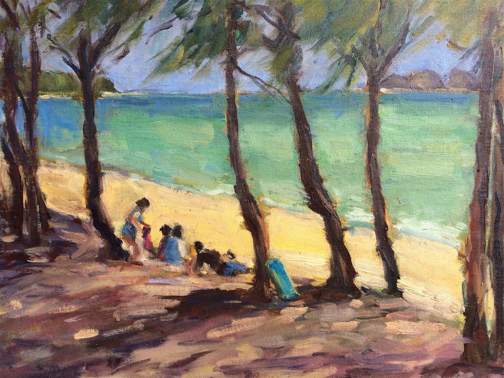 """Beach Day at Waimanalo"" original fine art by Yvonne Manipon"