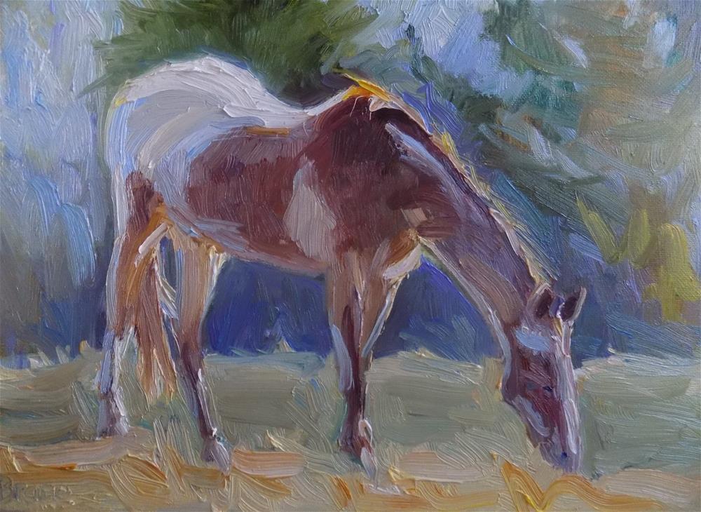 """""""Back In The Saddle"""" original fine art by Rita Brace"""