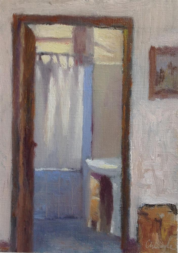 """Bathroom in sunlight"" original fine art by Christine Bayle"