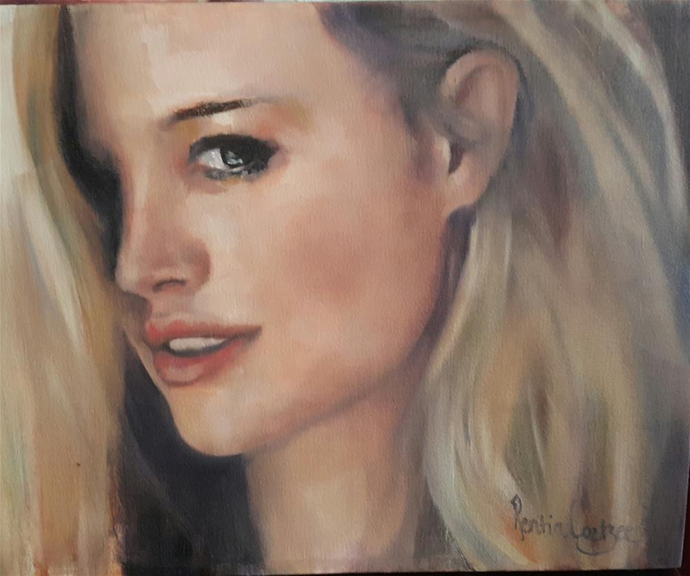 """That look"" original fine art by Rentia Coetzee"