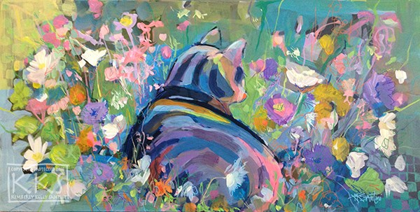 """Mona Lisa's Garden"" original fine art by Kimberly Santini"